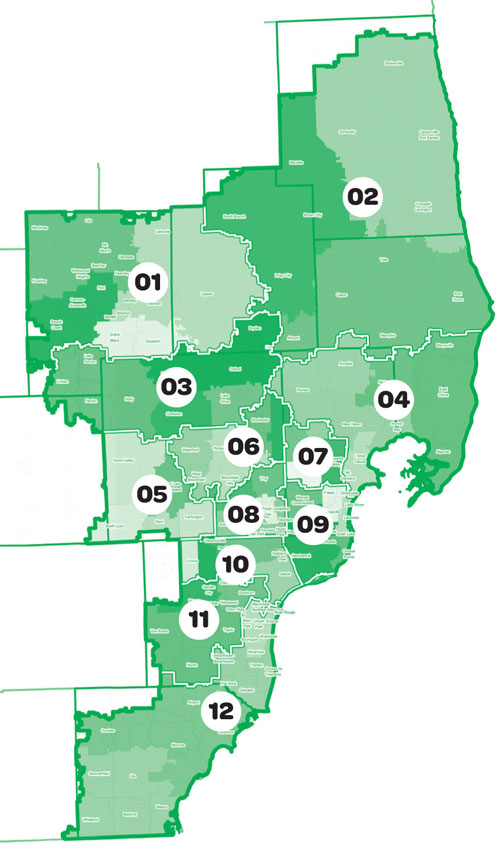 Southeastern Michigan Map.Council Map Girl Scouts Of Southeastern Michigan
