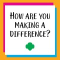 GSSEM invites local Girl Scouts to contribute to National Make a Difference Day!
